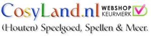 Logo COSYLAND, Houten speelgoed, - spellen en meer!