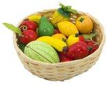 Mandje met houten fruit | Goki