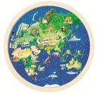 Ronde houten puzzel van de aarde - voorzijde