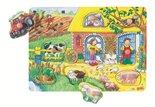Houten knoppuzzel 'boerderij' met achtergrond afbeeldingen van Goki