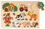 Houten knoppuzzel 'boerderij'