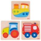 Set-Puzzels-Traktor-Boot-Brandweer-|-Goki
