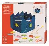 Houten visspel magnetisch in bonte kleuren van Goki