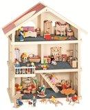Goki - Houten poppenhuis met 3 etages_