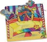 Goki - houten strik-puzzel - Circus_