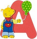De letter A uit de serie houten kinderkamer letters van Goki
