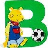 De letter B uit de serie houten kinderkamer letters van Goki