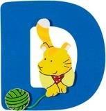 De letter D uit de serie houten kinderkamer letters van Goki