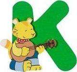 De letter K uit de serie houten kinderkamer letters van Goki