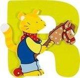 De letter R uit de serie houten kinderkamer letters van Goki