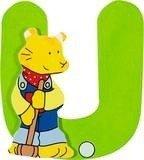 De letter U uit de serie houten kinderkamer letters van Goki