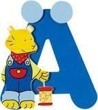 De letter Ä uit de serie houten kinderkamer letters van Goki