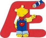 De letter Æ uit de serie houten kinderkamer letters van Goki