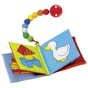 Babyboekje met koord en clip   Heimess