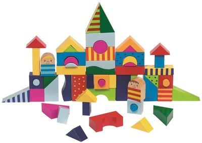 Goki - Blokkendoos 'Shalimar' met 57 houten blokken