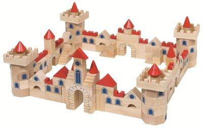 Goki - Kasteel bouwstenen - 145 houten blokken!