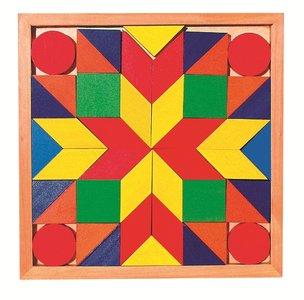 Goki - Houten mozaiek-puzzel