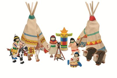 Goki - Poppenhuis buigpoppen indianenkamp