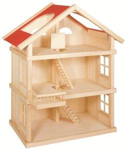 Goki - Houten poppenhuis met 3 etages