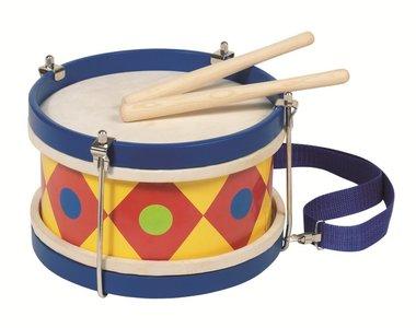 Goki - Houten trommel met schouderband
