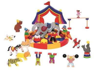 Goki - Houten bouwstenen 'Mijn kleine circus'