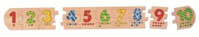 Cause - Houten aanlegpuzzel 'tellen, cijfers 1-10'