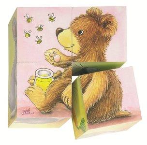 Cause - Houten blokpuzzel met 4 blokken 'baby dieren'