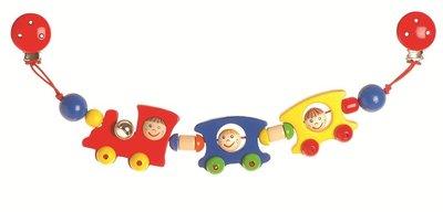 Heimess - Kinderwagenketting met clips - Trein