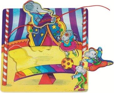 Goki - houten strik-puzzel - Circus