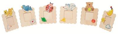 Toys Pure - Set van 6 houten fotolijstjes om te kleuren