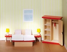 Goki Basic - Poppenhuismeubels Slaapkamer